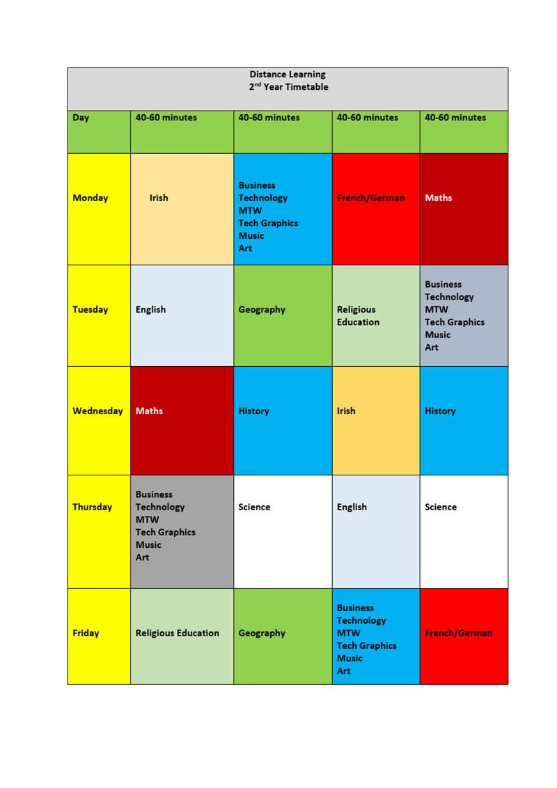 2nd year timetable Distance Learning jpg.jpg