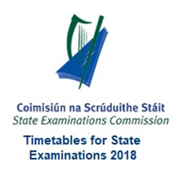 Timetables for State Examinations 2018
