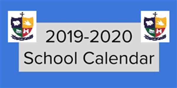 St. Mary's Academy CBS - Calendar for the Academic Year 2019 / 2020
