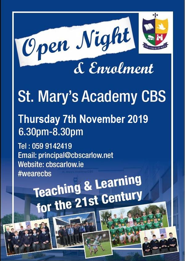 St. Mary's Academy CBS - Open Night 2019