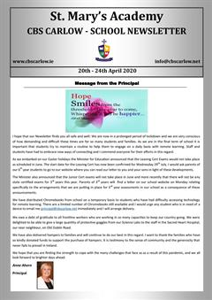 Weekly School Newsletter 24th March 2020