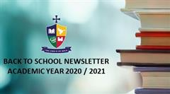 Back to School Newsletter - Academic Year 2020 / 2021